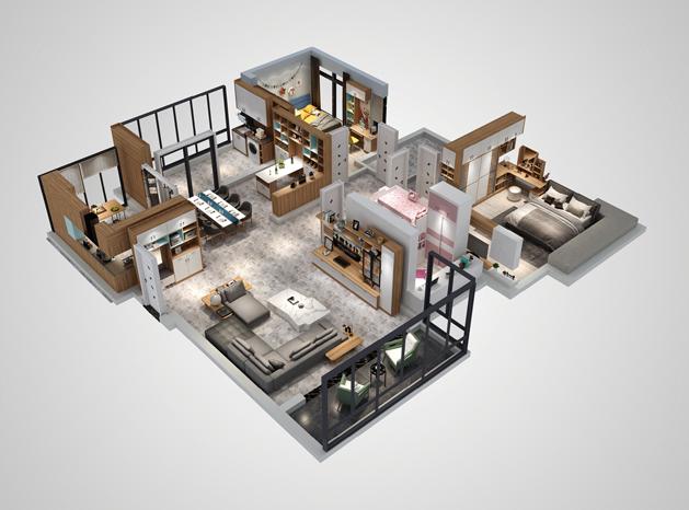 室内3D设计效果图