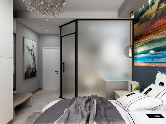 现代简约风格效果卧室