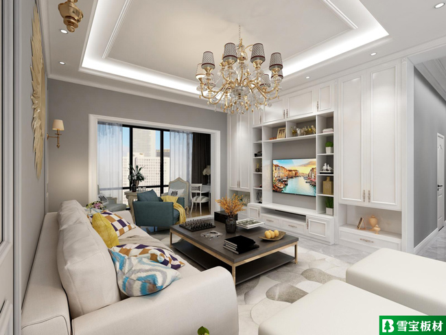 简欧风格设计图-客厅