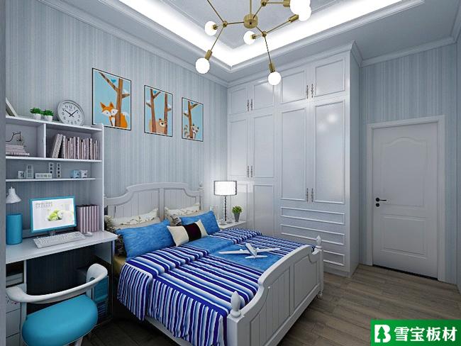 简欧风格设计图-男孩房