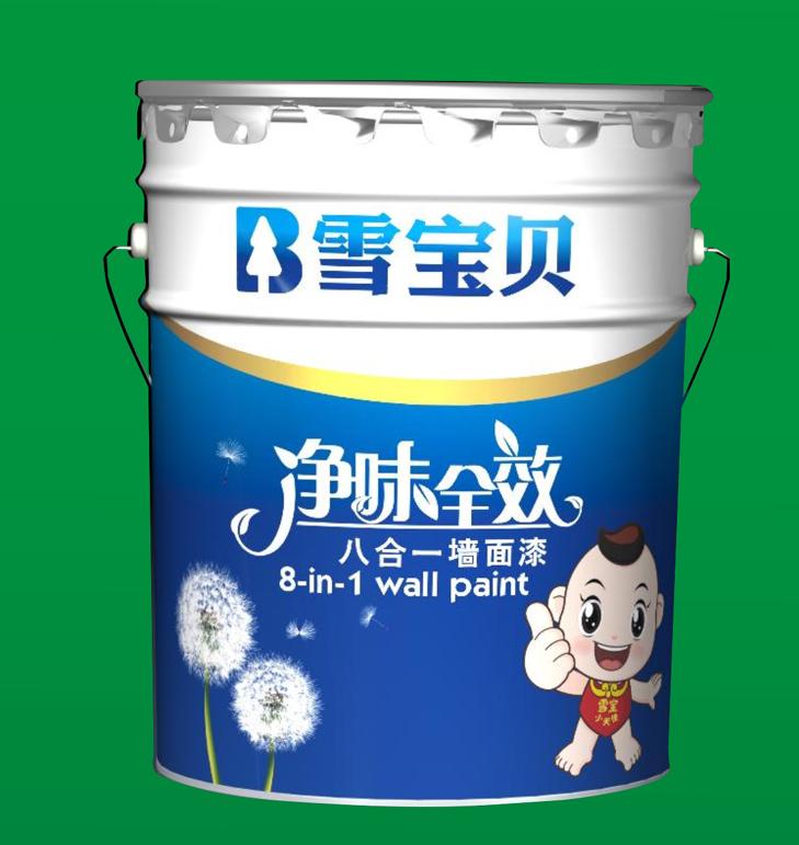 净味全效八合一墙面漆