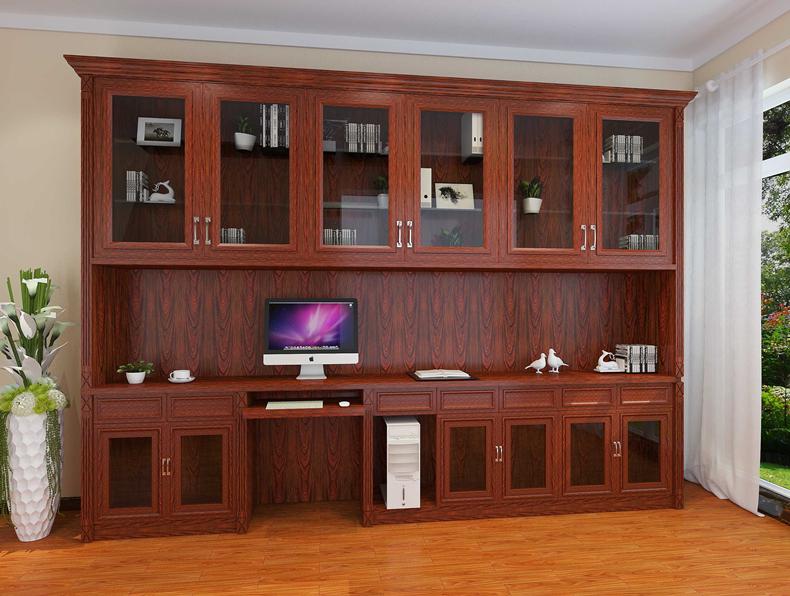 连体书柜-梨园香木