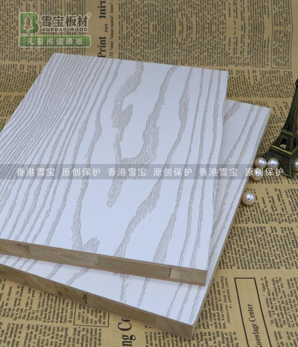 免漆板香杉木齿接芯银装素裹