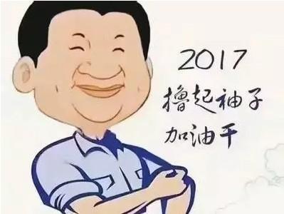 雪宝2017开工大吉,撸起袖子,卷起裤管,加油干!图片