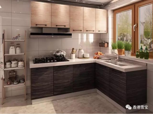 中国板材十大品牌雪宝板材不同类型的标准厨房橱柜尺寸