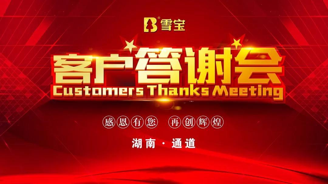 香港雪宝板材中国十大板材品牌雪宝板材丨湖南通道客户答谢会